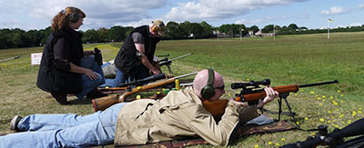 Rifle shooting on Century range at Bisley